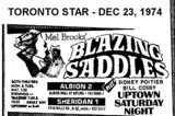 "AD FOR ""BLAZING SADDLES"" - ALBION 2 THEATRE"