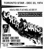 """AD FOR """"EARTHQUAKE IN SENSURROUND"""" - FAIRLAWN THEATRE"""