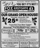 December 18th, 1985 grand opening ad as a triplex