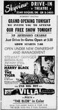 March 15th, 1959 grand opening ad as Skyview Drive-In