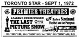 "AD FOR ""THE LAST PICTURE SHOW & THE OWL AND THE PUSSYCAT"" - WILLOW THEATRE"