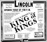 November 29th, 1928 grand opening ad