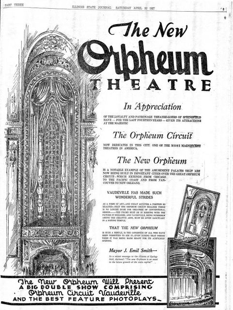 April 30th, 1927 grand opening ad