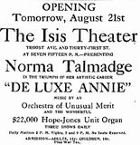 August 20, 1918 grand opening ad