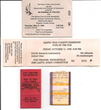 Collection of Tickets for Events at the Fox, Mid 1980s