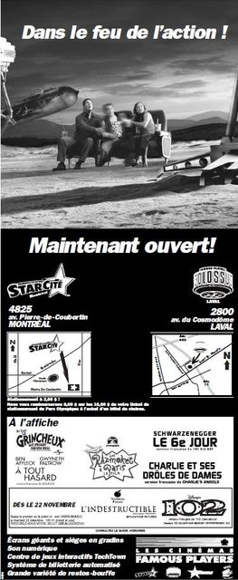 Grand opening ad in French