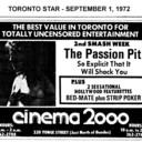 """AD FOR """"THE PASSION PIT & S FEATURETTES"""" - CINEMA 2000"""