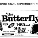 """AD FOR """"THE BUTTERFLY & HER AND SHE AND HIM"""" - BARONET THEATRE"""