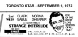 "AD FOR ""STRANGE INTERLUDE"" - CREST THEATRE"