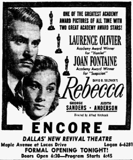 November 24th, 1949 grand opening ad as Encore
