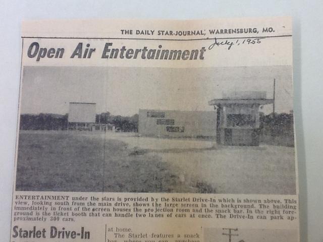 Starlet Drive In 1955
