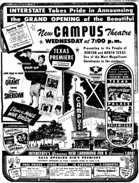 campus theatre in denton tx cinema treasures