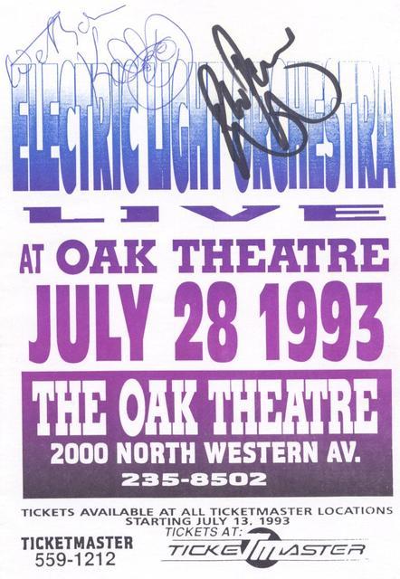 Oak Theatre 1993 Handbill