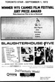 """AD FOR """"SLAUGHTERHOUSE-FIVE"""" TOWNE CINEMA"""