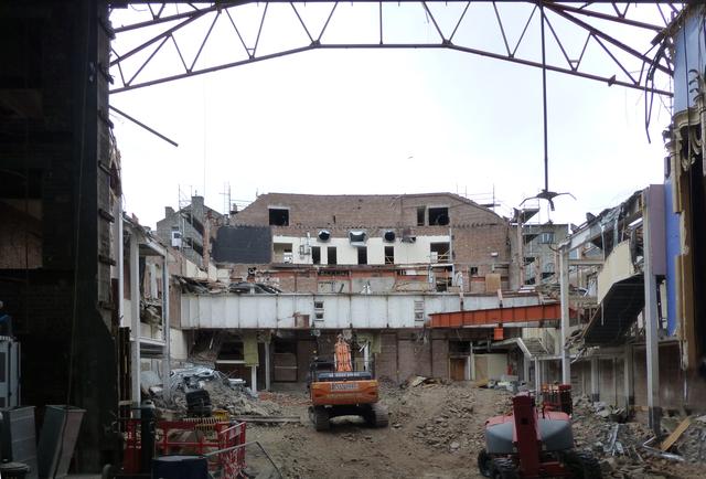 Demolition continues. May 2015