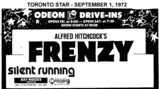 "AD FOR ""FRENZY & SILENT RUNNING"" - BAY RIDGES DRIVE-IN"