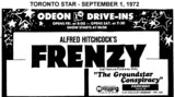 "AD FOR ""FRENZY AND GROUNDSTAR CONSPIRACY"" - PARKWAY DRIVE-IN THEATRE"