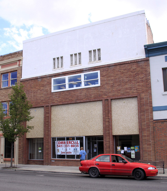 Current facade of the old Pine Tree Theatre, Klamath Falls, OR -- July 2011