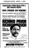 """AD FOR """"RICHARD PRYOR LIVE IN CONCERT"""" - ELGIN & OTHER THEATRE"""