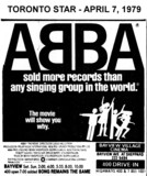 """AD FOR """"ABBA"""" - BAYVIEW VILLAGE & 400 DRIVE-IN THEATRES"""