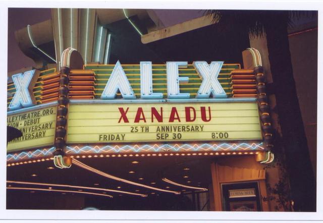Alex Theatre marquee 2005