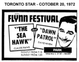 "AD FOR ""THE SEA HAWK & DAWN PATROL"" - PARK THEATRE"