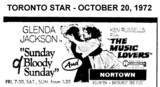 "AD FOR ""SUNDAY BLOODY SUNDAY & THE MUSIC LOVERS"" - NORTOWN THEATRE"