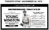 """AD FOR """"RESERVED SEAT PERFORMANCE OF YOUNG WINSTON"""" - FAIRLAWN THEATRE"""
