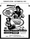 "AD FOR ""KANSAS CITY BOMBER & THE WRATH OF GOD"" - FAIRVIEW AND OTHER THEATRES"