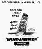 "AD FOR ""WINDJAMMER"" - GLENDALE CINERAMA"
