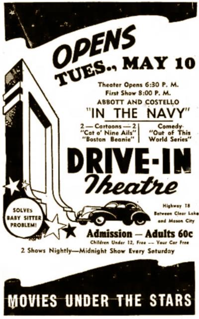mason city drivein cinema treasures