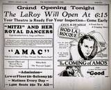 1926 Grand Opening print ad courtesy of Guy Cooper.