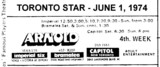 "AD FOR ""ARNOLD"" - CAPITOL (NEW TORONTO) & OTHER THEATRES"