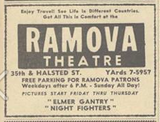 Ramova ad from the Bridgeport News Oct. 10, 1960 paper.