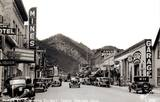 Sanborn photo of the signage of Miner St., Idaho Springs, late-30s/early-40s