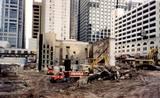 1998 demolition and shoring up of the Selwyn facade. Photo credit John P Keating Jr.