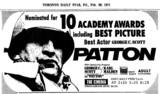 "AD FOR ""PATTON"" - THE CINEMA"