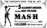 "AD FOR ""M*A*S*H"" - HOLLYWOOD THEATRE"