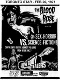 "AD FOR ""THE BLOOD ROSE & INVASION OF THE BODY STEALERS"" - BARONET THEATRE"