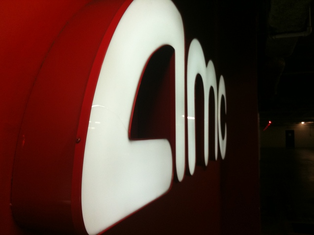 AMC sign in the Century City parking lot