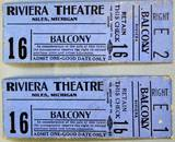 Riviera Theatre tickets courtesy of Mike N Sandy Fletcher.