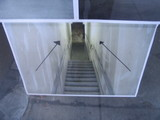 12-15-04 photo of stairs at west end of Chestnut, to upstairs