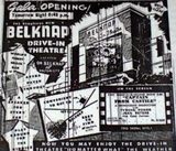 Grand opening ad of the Belknap Drive-in.