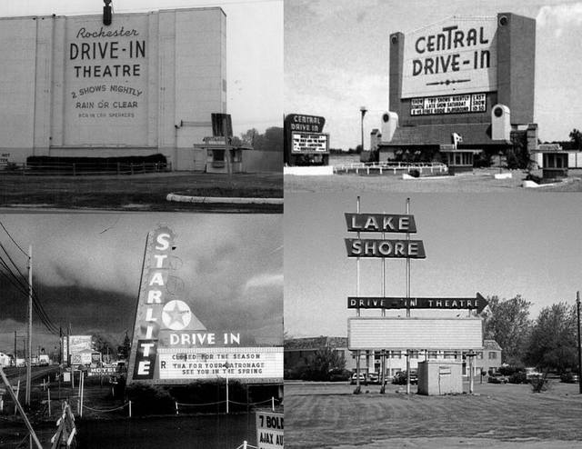 Photo included in a collage of 4 Rochester Drive-in's courtesy of Michael Cowley.