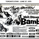 """AD FOR """"BAMBI"""" - WILLOW AND OTHER THEATRES"""
