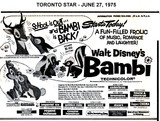 """AD FOR """"BAMBI"""" - DIXIE 5 AND OTHER THEATRES"""