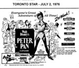 "AD FOR ""PETER PAN"" - SKYWAY PLAZA (BURLINGTON) AND OTHER THEATRES"