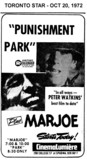 "AD FOR ""PUNISHMENT PARK & MARJOE"" - CINEMALUMIERE"
