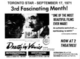 "AD FOR ""DEATH IN VENICE"" - WESTWOOD CINEMA"