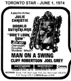 "AD FOR ""DON'T LOOK NOW & MAN ON A SWING"" - WESTWOOD CINEMA"